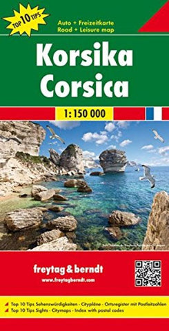 Buy map Corsica, France by Freytag-Berndt und Artaria