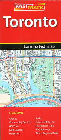 Buy map Toronto, Ontario Fast Track Laminated Map by Canadian Cartographics Corporation