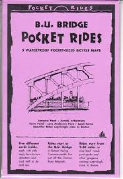 Buy map B.U. Bridge, Massachusetts, Lam Bike Map Cards by Rubel BikeMaps