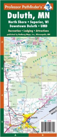 Buy map Duluth, Minnesota, The North Shore and Superior, Wisconsin by Hedberg Maps