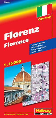 Buy map Florence, Italy by Hallwag