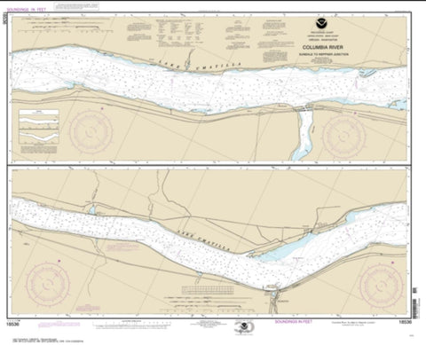 Buy map Columbia River Sundale to Heppner Junction (18536-11) by NOAA