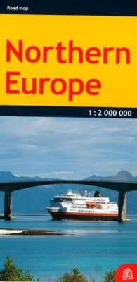 Buy map Europe, Northern, road map by Jana Seta