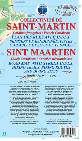 Buy map Saint Martin/Sint Maarten, Dutch and French Caribbean, Street Map by Kasprowski Publisher