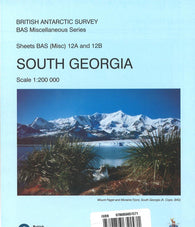 Buy map South Georgia (12A and 12B) by British Antarctic Survey