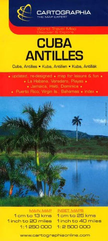 Buy map Cuba and Antilles by Cartographia
