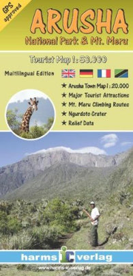Buy map Arusha National Park and Arusha, Tanzania by Harms IC Verlag