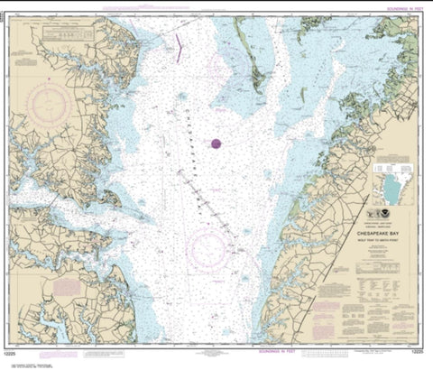 Buy map Chesapeake Bay Wolf Trap to Smith Point (12225-60) by NOAA