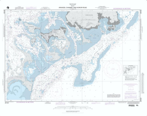Buy map Arangel Channel And Koror Road (NGA-81151-7) by National Geospatial-Intelligence Agency