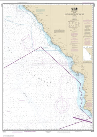 Buy map Point Conception to Point Sur (18700-23) by NOAA