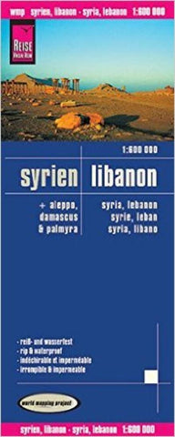 Buy map Syria and Lebanon (ft. Aleppo, Damascus, and Palmyra) by Reise Know-How Verlag