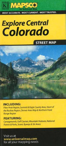 Buy map Colorado, Central by Kappa Map Group