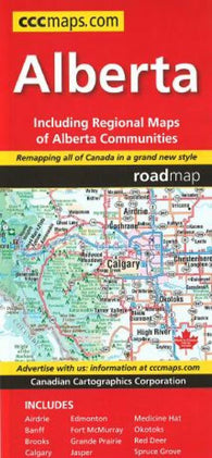 Buy map Alberta Road Map by Canadian Cartographics Corporation