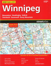 Buy map Winnipeg Street Atlas (Large Print edition) by Canadian Cartographics Corporation