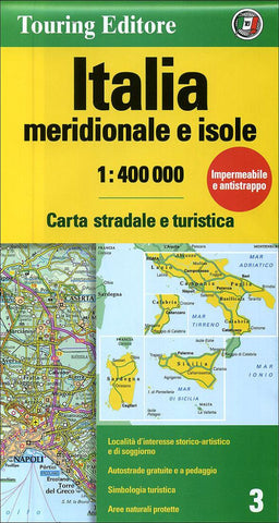 Buy map Italy, Southern and Islands by Touring Club Italiano