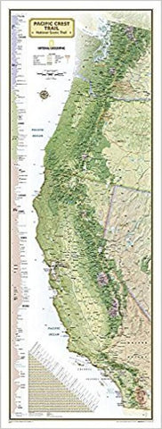 Buy map Pacific Crest Trail Wall Map, Laminated by National Geographic Maps