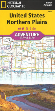 Buy map U.S. Northern Plains Adventure Map (3122) by National Geographic Maps