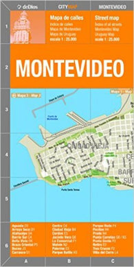 Buy map Montevideo, Uruguay by deDios