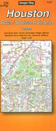 Buy map Houston : South/Southwest suburbs : Texas by The Seeger Map Company Inc.