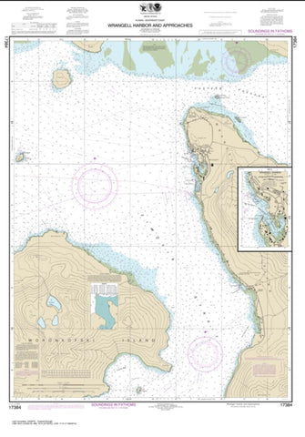 Buy map Wrangell Harbor and approaches; Wrangell Harbor (17384-10) by NOAA