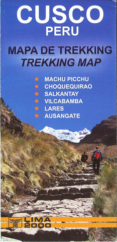 Buy map Cusco, Peru, Trekking Map by Lima 2000