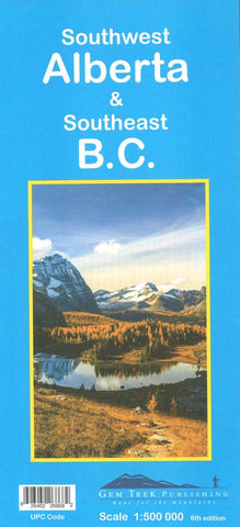 Buy map Alberta, Southwest and British Columbia, Southeast Road Map by Gem Trek