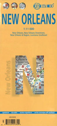 Buy map New Orleans, Louisiana by Borch GmbH.