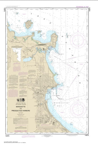 Buy map Marquette and Presque Isle Harbors (14970-27) by NOAA