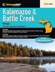 Buy map Kalamazoo and Battle Creek, MI, Street Atlas by Kappa Map Group