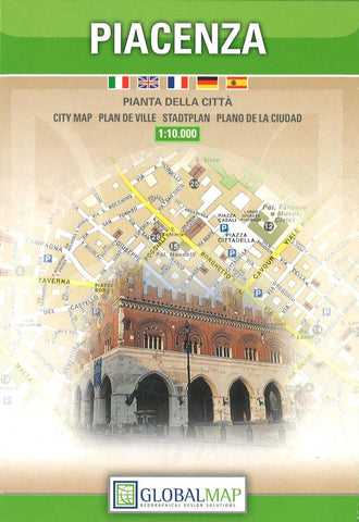 Buy map Piacenza, Italy by Litografia Artistica Cartografica