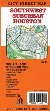 Buy map Houston, Southwest Suburban by GM Johnson