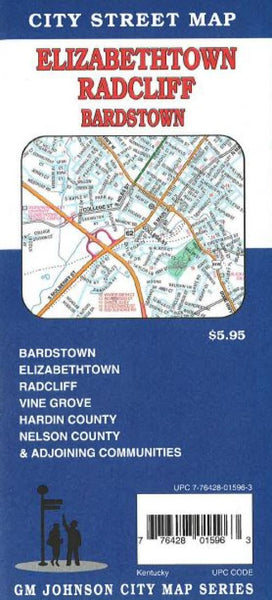Buy map Elizabethtown, Radcliff, Bardstown and Vine Grove, Kentucky by GM Johnson