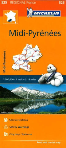 Buy map Midi Pyrenees (525) by Michelin Maps and Guides