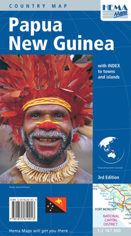 Buy map Papua New Guinea by Hema Maps