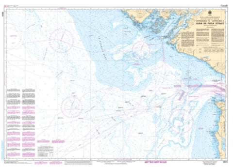 Buy map Approaches to/Approches a Juan de Fuca Strait by Canadian Hydrographic Service