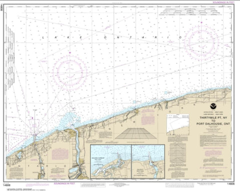 Buy map Thirtymile Point, N.Y., to Port Dalhousie, Ont. (14806-24) by NOAA
