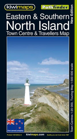 Buy map North Island, Eastern and Southern, New Zealand, Pathfinder Map by Kiwi Maps