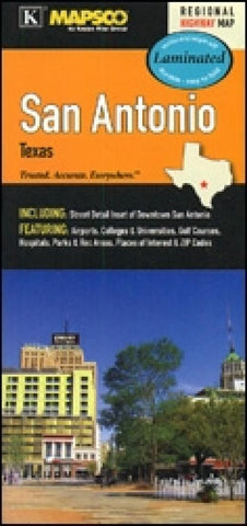 Buy map San Antonio, Texas, laminated by Kappa Map Group
