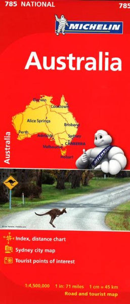 Buy map Australia (785) by Michelin Maps and Guides