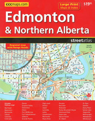 Buy map Edmonton & Northern Alberta Street Atlas (Large Print) by Canadian Cartographics Corporation