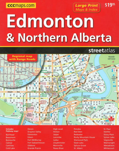 Buy map Edmonton Northern Alberta Street Atlas Large Print by