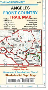 Buy map Angeles Front Country, California by Tom Harrison Maps