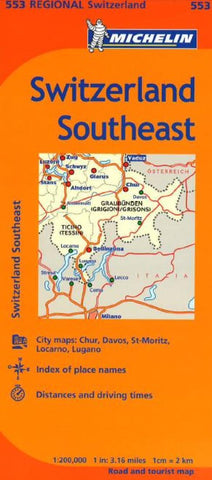 Buy map Switzerland, Southeast (553) by Michelin Maps and Guides