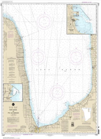 Buy map Port Huron to Pte aux Barques; Port Sanilac; Harbor Beach (14862-28) by NOAA