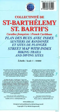 Buy map St Barths, French Caribbean, Street map by Kasprowski Publisher