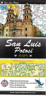 Buy map San Luis Potosi, Mexico, State and Major Cities Map by Ediciones Independencia