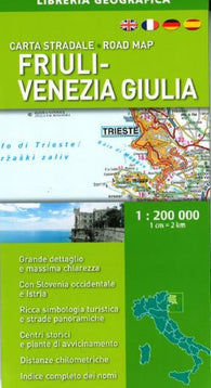 Buy map Friuli-Venezia Giulia, Italy, Road Map by Libreria Geografica