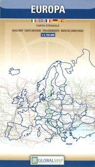 Buy map Europe by Litografia Artistica Cartografica