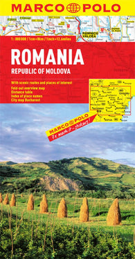 Buy map Romania & Republic of Moldova by Marco Polo Travel Publishing Ltd