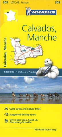 Buy map Calvados, Manche Road and Tourist Map by Michelin Travel Partner